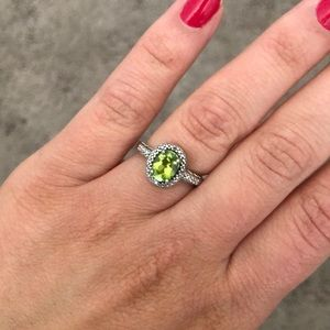 August Birthstone ring Sterling Silver